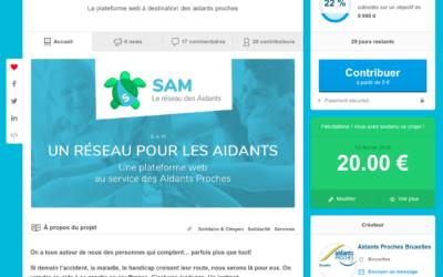 Campagne de financement de SAM, le réseau des aidants